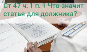 Ст 47 ч. 1 п. 1 «Об исполнительном производстве», что означает для должника?